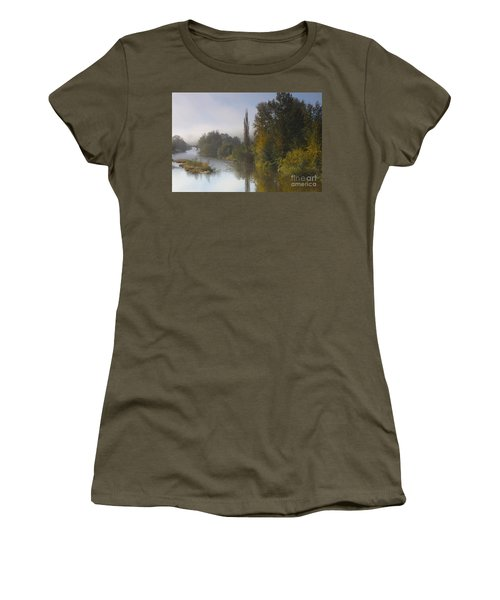 Trees A View From Usk Bridge Women's T-Shirt