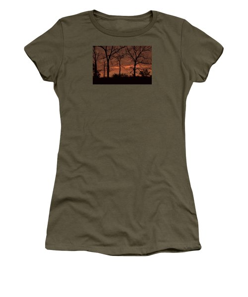 Trees At Sunrise Women's T-Shirt