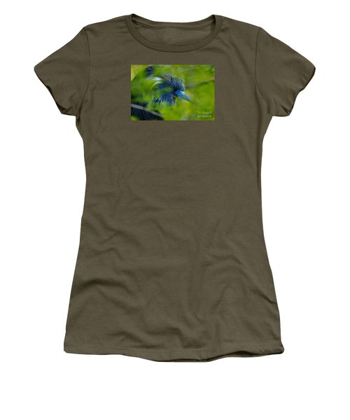 Women's T-Shirt (Athletic Fit) featuring the photograph Tri-colored Heron Concealed    by John F Tsumas