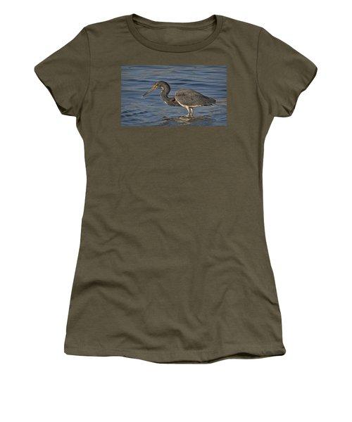 Tri Colored Heron Fishing Women's T-Shirt