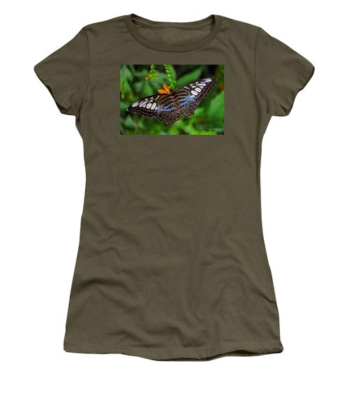 Women's T-Shirt (Junior Cut) featuring the photograph Tropical Butterfly by Marie Hicks