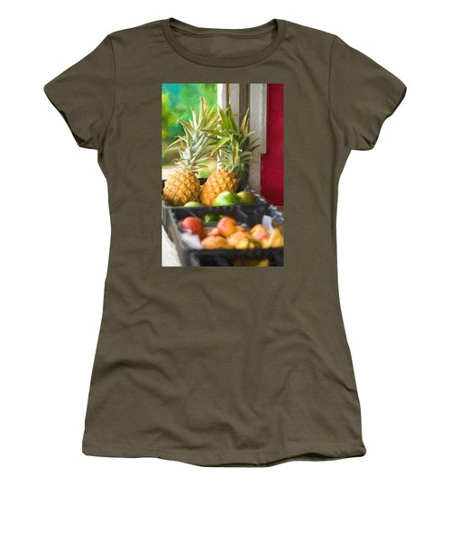 Tropical Fruitstand Women's T-Shirt (Athletic Fit)