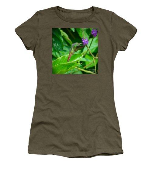Women's T-Shirt featuring the photograph Tropical Hummingbird by Gary Keesler