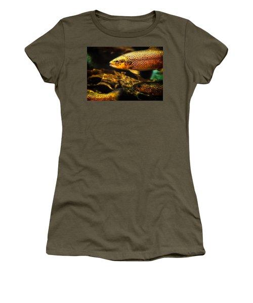 Trout Swiming In A River Women's T-Shirt