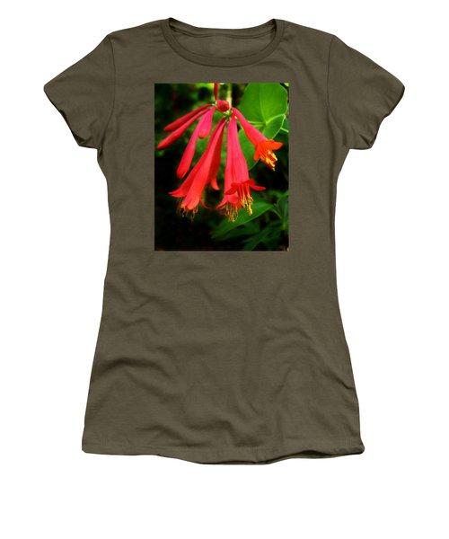 Wild Trumpet Honeysuckle Women's T-Shirt (Athletic Fit)