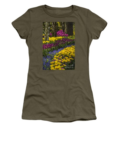 Tulip Beds Women's T-Shirt (Athletic Fit)
