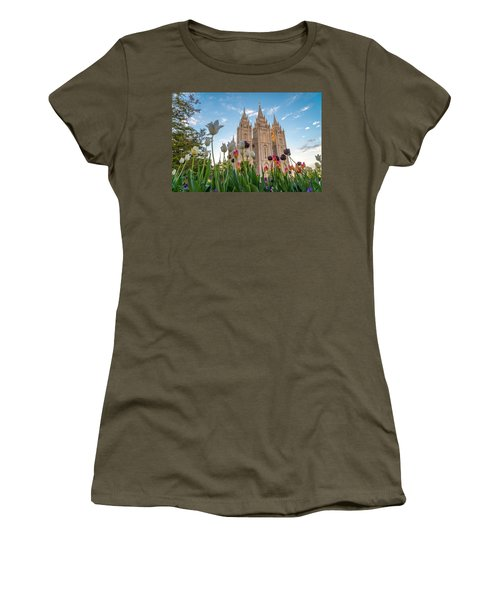 Tulips At The Temple Women's T-Shirt