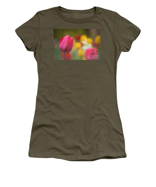 Tulips Blooming Women's T-Shirt (Junior Cut) by Rima Biswas