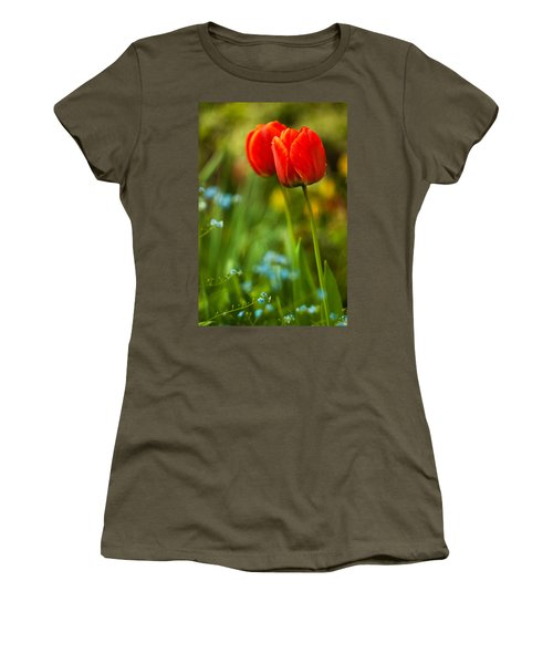 Tulips In Garden Women's T-Shirt (Athletic Fit)