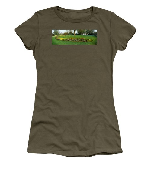 Tulips In Hyde Park, City Women's T-Shirt (Junior Cut) by Panoramic Images