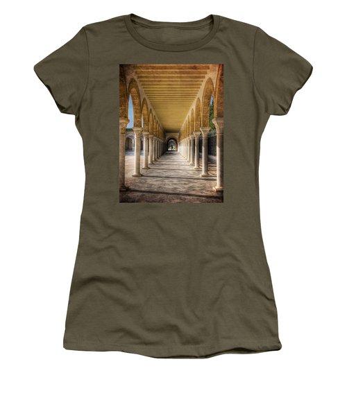 Women's T-Shirt featuring the photograph Tunisian Arches / Monastir by Barry O Carroll