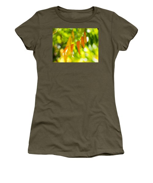 Women's T-Shirt (Junior Cut) featuring the photograph Turning Autumn by Aaron Aldrich