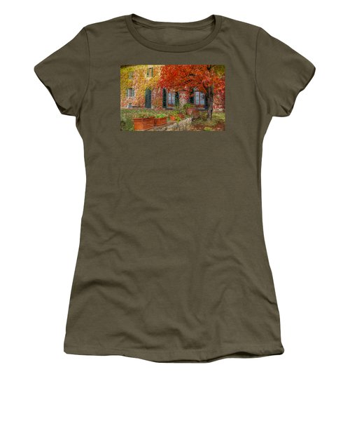 Tuscan Villa In Autumn Women's T-Shirt (Athletic Fit)