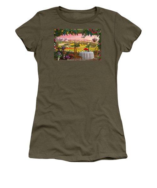 Tuscany Hills Women's T-Shirt (Junior Cut) by Dominic Davison