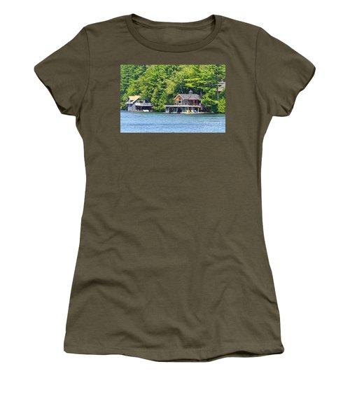 Two Luxury Boathouses Women's T-Shirt (Junior Cut) by Les Palenik