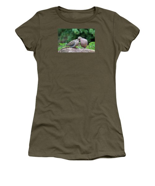 Two Turtle Doves Women's T-Shirt (Junior Cut) by Cynthia Guinn