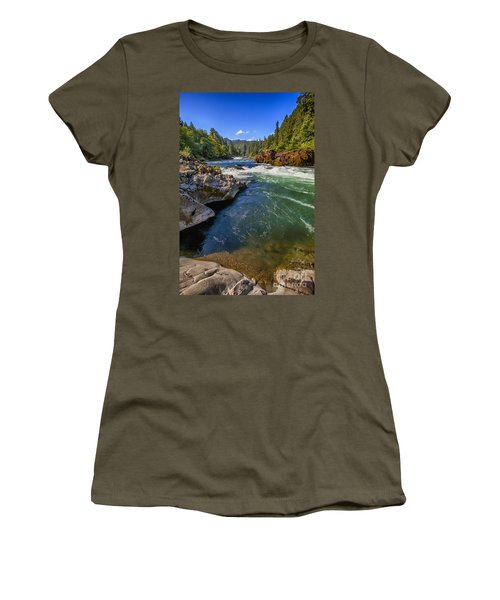 Women's T-Shirt (Junior Cut) featuring the photograph Umpqua River by David Millenheft