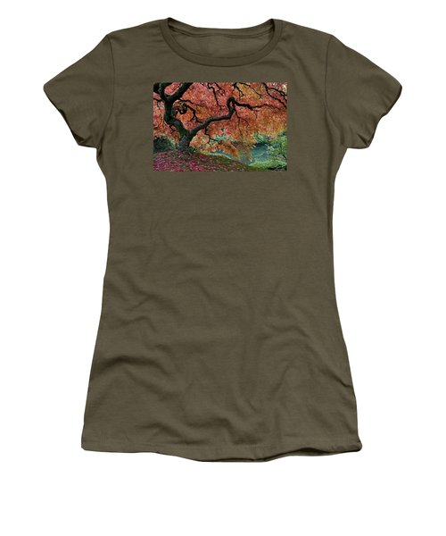 Under Fall's Cover Women's T-Shirt (Junior Cut) by Wes and Dotty Weber