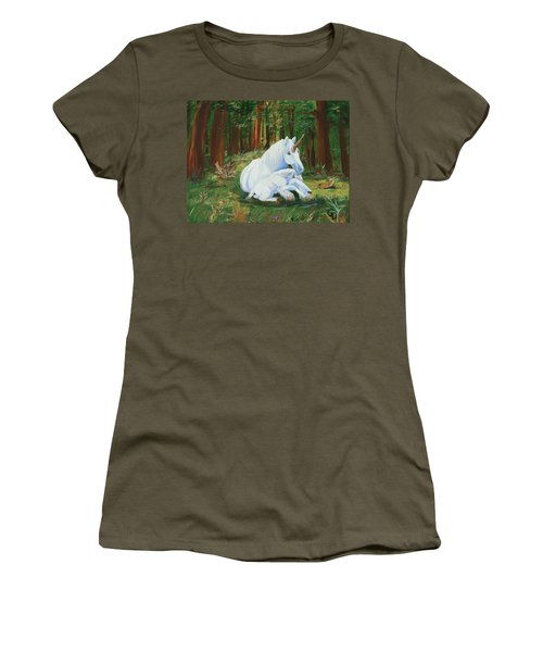 Unicorns Lap Women's T-Shirt (Athletic Fit)