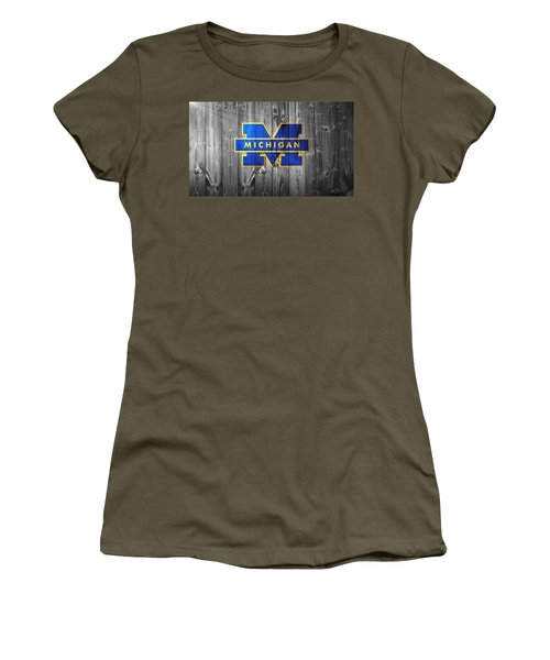 Women's T-Shirt featuring the digital art University Of Michigan by Dan Sproul