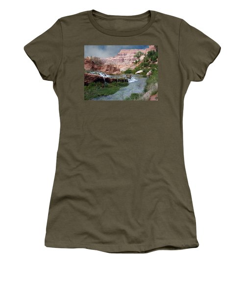Unspoiled Waterfall Women's T-Shirt (Athletic Fit)