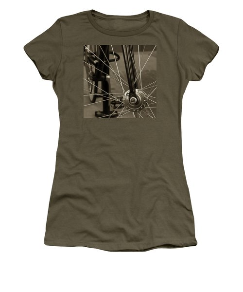 Urban Spokes In Sepia Women's T-Shirt (Junior Cut) by Steven Milner