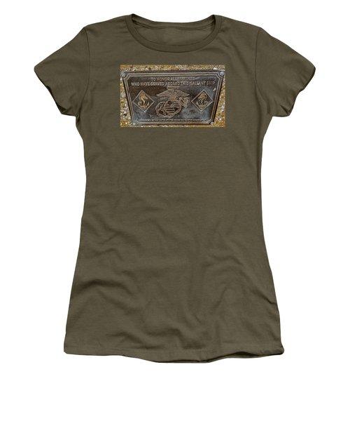 U.s.s. San Francisco Memorial Land's End Women's T-Shirt (Junior Cut) by Bill Owen
