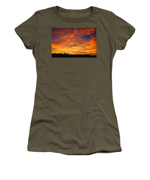 Women's T-Shirt (Junior Cut) featuring the photograph Valentine Sunset by Tammy Espino