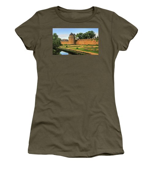 Women's T-Shirt (Junior Cut) featuring the photograph Vannes In Brittany France by Dave Mills