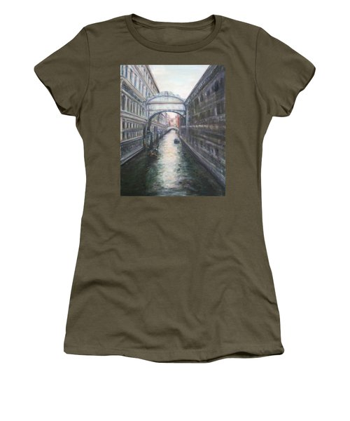 Venice Bridge Of Sighs - Original Oil Painting Women's T-Shirt