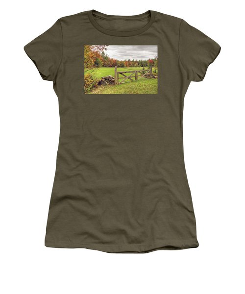 Vermont Countryside Women's T-Shirt (Athletic Fit)