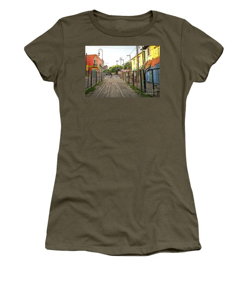 Vias De Caminito Women's T-Shirt (Junior Cut) by Silvia Bruno