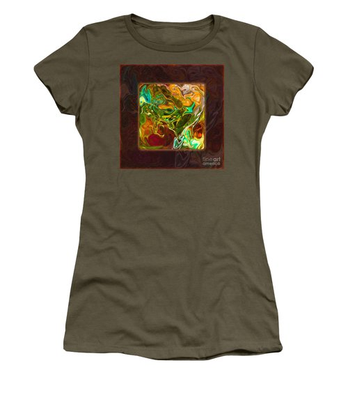 Vibrant Fall Colors An Abstract Painting Women's T-Shirt