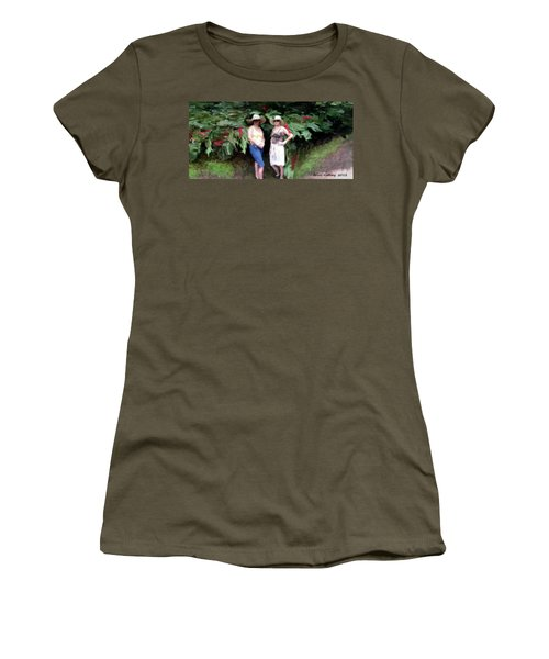 Women's T-Shirt (Junior Cut) featuring the painting Victoria And Friend by Bruce Nutting