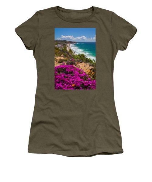 View Of Strand Beach And Dana Point Headland Women's T-Shirt
