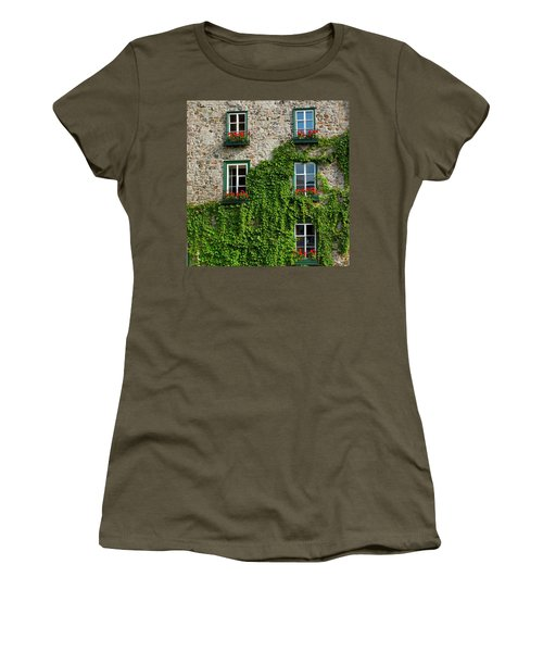 Vine Covered Stone House And Windows Women's T-Shirt