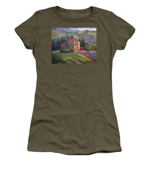 Vineyard And Lavender In Provence Women's T-Shirt
