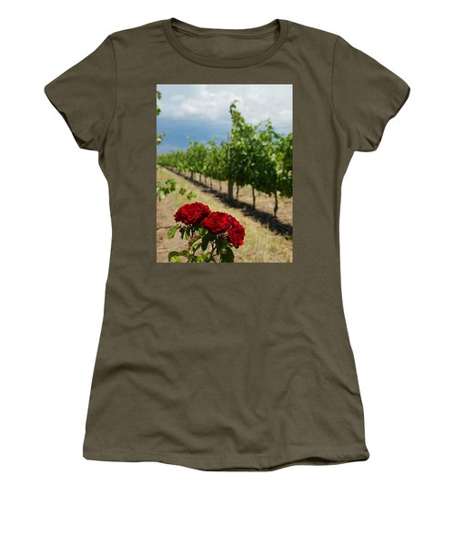 Vineyard Rose Women's T-Shirt (Athletic Fit)