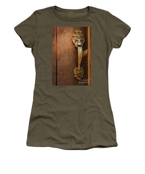 Women's T-Shirt (Junior Cut) featuring the photograph Vintage Door Handle by Patrick Shupert