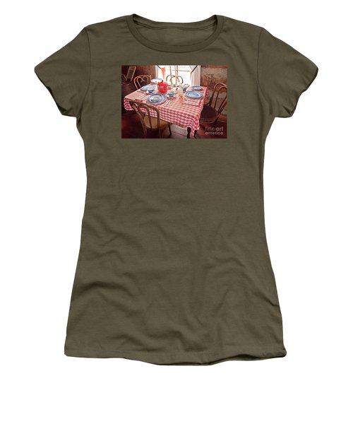 Vintage Kitchen Table Art Prints Women's T-Shirt (Junior Cut) by Valerie Garner