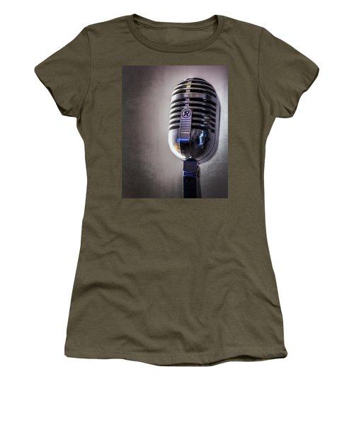 Vintage Microphone 2 Women's T-Shirt (Athletic Fit)