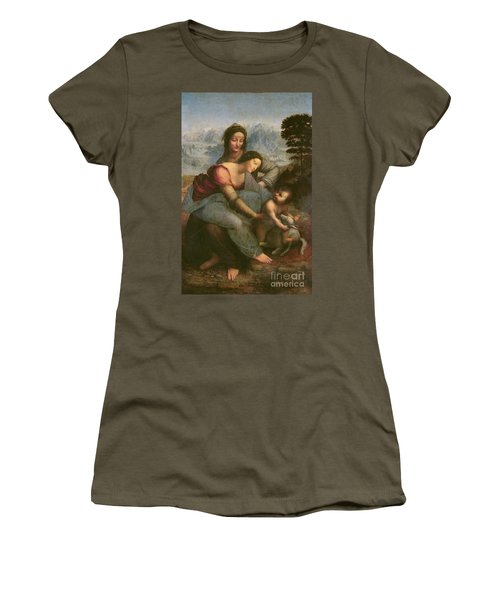 Virgin And Child With Saint Anne Women's T-Shirt