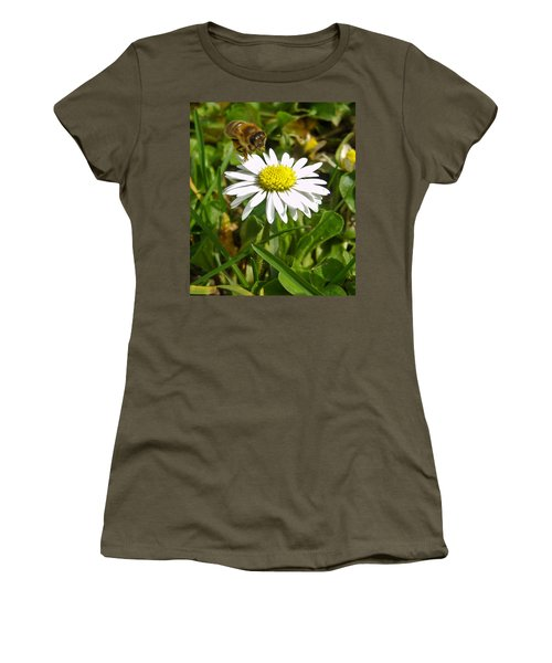 Visiting Miss Daisy Women's T-Shirt (Junior Cut) by Nina Ficur Feenan