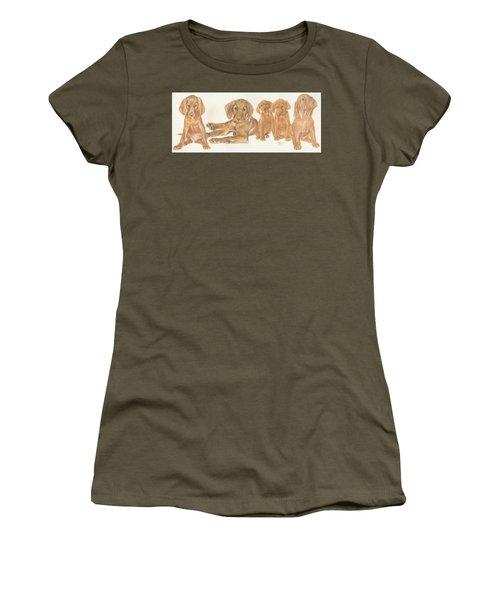 Vizsla Puppies Women's T-Shirt