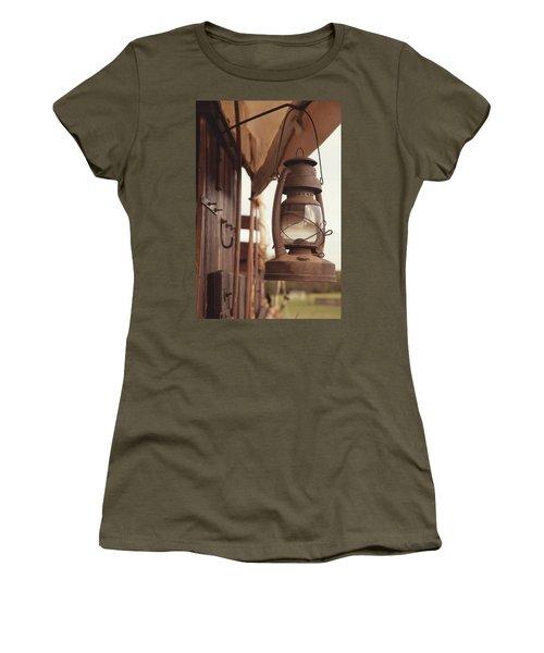 Wagon Lantern Women's T-Shirt (Junior Cut) by Toni Hopper