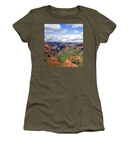 Women's T-Shirt (Junior Cut) featuring the photograph Waimea Canyon by Amy McDaniel