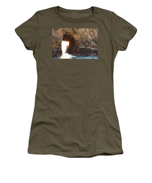 Waiting For Godot - Arch Rock In Pfeiffer Beach In Big Sur. Women's T-Shirt