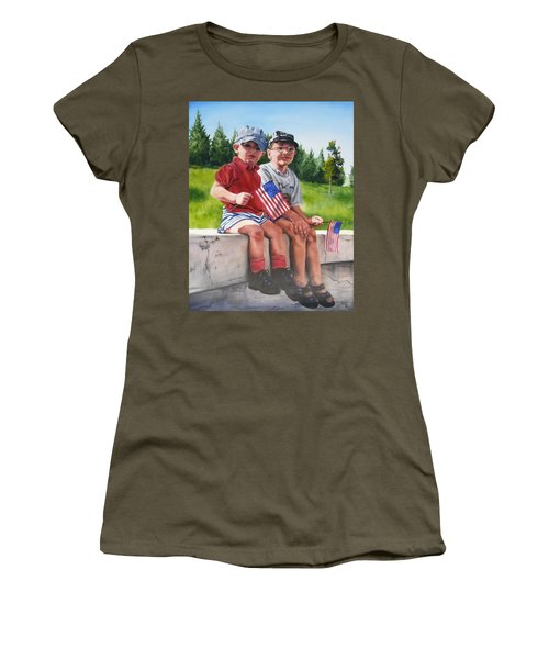 Waiting For The Parade Women's T-Shirt