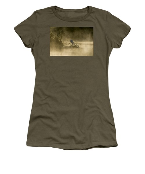 Women's T-Shirt (Athletic Fit) featuring the photograph Waiting For The Sun by Steven Sparks