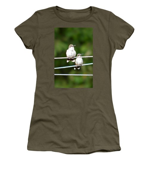 Women's T-Shirt (Junior Cut) featuring the photograph Waiting Our Turn by Nick Kirby